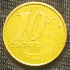 10 Centavos De Real 2000 - A Segunda Mais Rara Da Série.