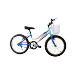Bicicleta Montaña Infantil Para Niña Con Canasta Rodada 20