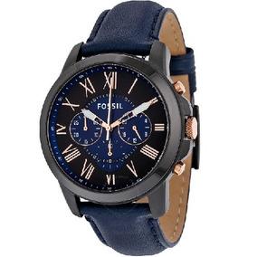 Relógio Analógico Fossil Grant Fs5061 Masculino Couro