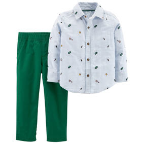 Conjunto Carters Camisa Y Pantalon De Vestir Niño