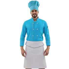 Dólmã Chef De Cozinha Avental Tipo Saia Touca Confeitaria 61f035f5106