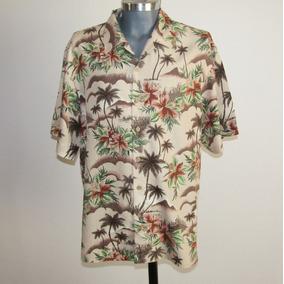Honolulu Lulu Camisa Hawaiiana 100% Seda Talla L