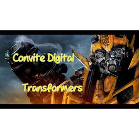 Convite Transformers Arte E Artesanato No Mercado Livre Brasil