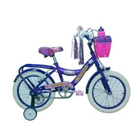 Bicicleta Rodado 16 Bronco 3216 Violeta