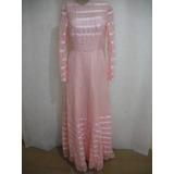 Vestido Dama Daminha Antigo Rosa P Usado Cfe Fotos