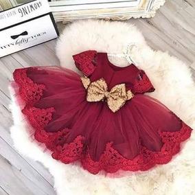 Hermoso Vestido De Gala Niña Rojo Con Encaje Calidad Premium