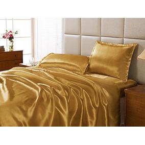 ef53e41b9d Lençol Seda Dourado - Roupa de Cama no Mercado Livre Brasil