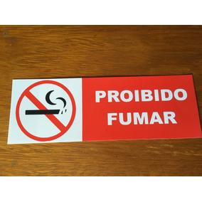 Placa Sinalizadora Proibido Fumar Medindo 20x7cm Frete R$ 9