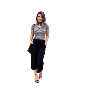 Calça Pantacourt Pantalona Lançamento