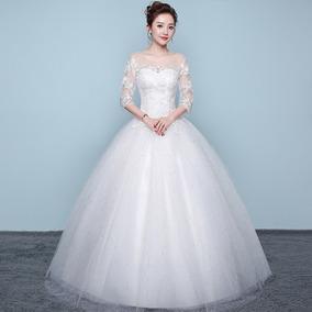 Vestido De Noivas 135318 Longo Barato Plus Size Promoção