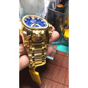 Relogio Invicta Bolt Zeus Magnum Dourado Azul Dukd