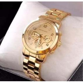 401edb4b2c0 Relogio Dourado Feminino Mk - Relógio Outras Marcas Feminino no ...