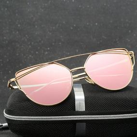 acbf55d16f5ef Oculos Gatinho Espelhado Rosa Gold - Óculos De Sol no Mercado Livre ...