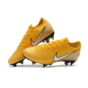 Chuteira Nike Mercurial Vapor Xii Elite Sg Yellow Campo