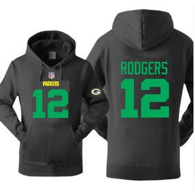 5200e275da Blusa Moleton Casaco Green Bay Packers 12 Rodgers Estampado