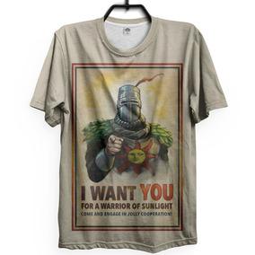 Camiseta Dark Souls Solaire Praise The Sun Game Ps3 Ps4 Xbox