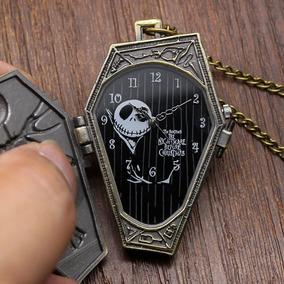 Reloj Collar De Bolsillo Extraño Mundo Jack Nightmare Ataud