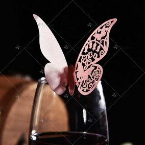 50 Mariposas Copas Perlado Casamiento 15 Años Decoración
