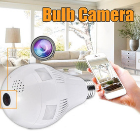 Camera Ip Lampada Panoramica 360º Hd 1080p