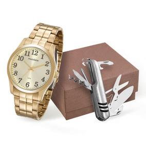 Kit Relógio Mondaine Masculino + Canivete 99192gpmvde2k1