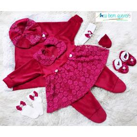 Kit Bebê Saída Maternidade Menina Estampado Frete Grátis