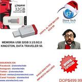 Memoria Usb 32gb 3.1/3.0/2.0 Kingston, Data Traveler 50.