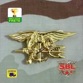 Insígnia Pin Broxe Especial Forces Usmc Navy Seal´s Dourado