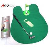 2 Juegos De A99 Golf Toilet Baño Mini Golf Mat Set Juego Pot