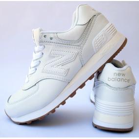 8e4ed88230c42 Zapatillas Blancas Cuero - Zapatillas New Balance Urbanas en Mercado ...