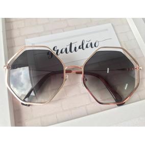 9a5ea40a373f3 Oculos Feminino Hexagonal Rose - Calçados, Roupas e Bolsas no ...