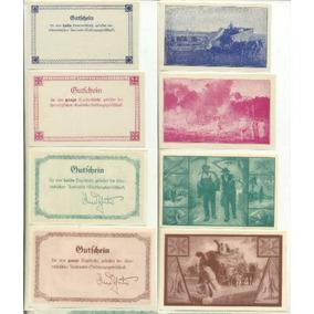 4 Cédulas Vale Emitidas Em Treze Tílias / Sc Entre 1933/1939