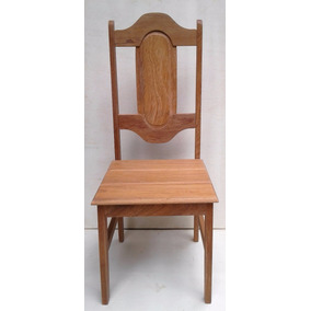 2 Cadeiras Em Madeira Maciça Angelim Fundo P.u. Acetinado