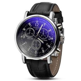 Relógio Unissex Luxo Couro Pulseira Mais Barato Do Mercado