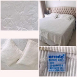Cubrecama Cover Blanco Arredo + Almohadones 2 Pl. Impecable