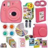 Fujifilm Instax Mini 9 Camara Instantanea Flamingo Rosa Fuji