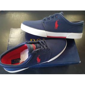Tenis Polo Ralph Lauren Num. 9mx Azil/rojo