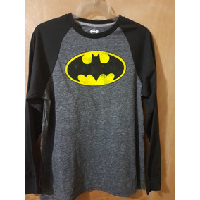Playera Batman Raglan L/s Batman And Dc Comics Original