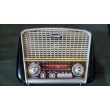 Rádio Antigo Multifuncional Retrô Bluetooth Usb Fm Lanterna