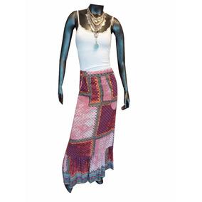 aa2f7b4776 Pollera De Cuero Azul - Polleras Largas de Mujer Índigo en Mercado ...
