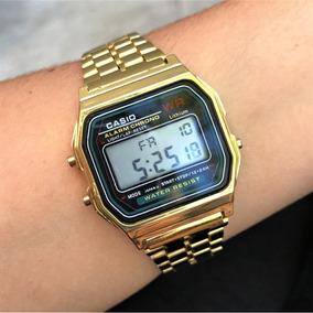 3ca9682cc90 Relogio Casio Dourado Retro - Relógios no Mercado Livre Brasil