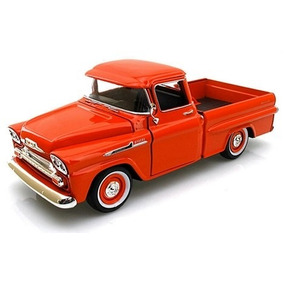 Chevrolet Apache Pickup 1958 Escala 1:24 Motor Max Rojo