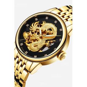 Guanqin Gj16059 Relógio Mecânico Automático - Preto Dourado