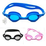 Óculos Natação Adulto Proteção Uv Protetor Ouvido Silicone