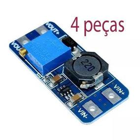 4 Peças Regulador De Tensão Mt3608 2a Max Dc-dc