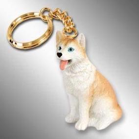 Cachorro Husky Siberiano Chaveiro Import. Japonês Miniatura