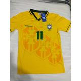 Camisa Seleçao Brasileira 1994 - Camisas de Futebol no Mercado Livre ... a9b15f4bf7347