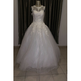 f2de15b65c Vestido De Novia Corte Princesa Color Ivory