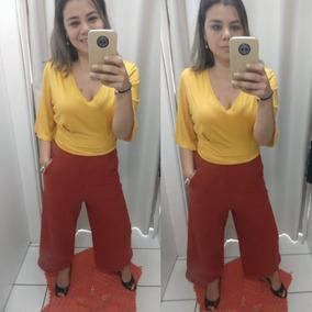 Calça Feminina Cropped Moletinho Textura Especial Cantão c62c71da74d