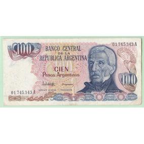 Argentina Billete De 100 Pesos Argentinos Bottero 2621 ---