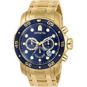Relógio Invicta Pro Diver Plaque Ouro (0073) (21923)